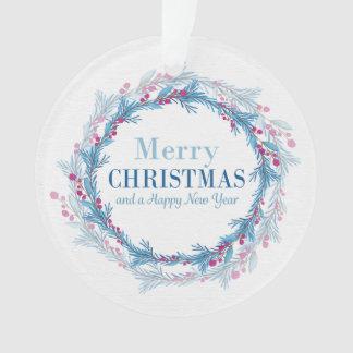 """Ornamento Do """"ornamento Feliz Natal e de um feliz ano novo"""""""