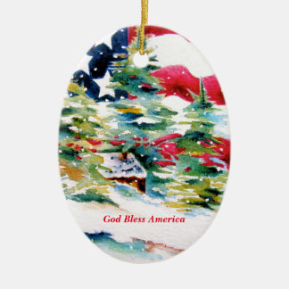 Ornamento do Oval da bandeira americana
