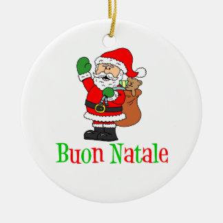 Ornamento do papai noel de Buon Natale