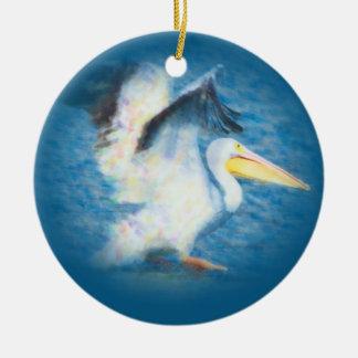 ornamento do pelicano 17 da aguarela