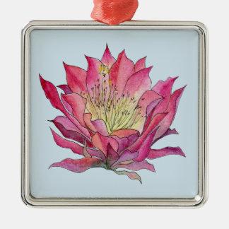 Ornamento do peltre da flor da aguarela