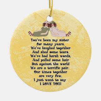 Ornamento do poema da irmã