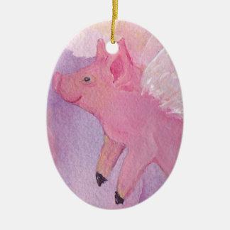Ornamento do porco do vôo