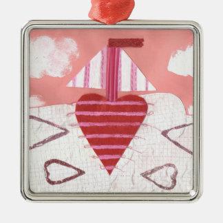 Ornamento do prêmio do barco de Loveheart