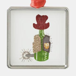 Ornamento do prêmio do vaqueiro da garrafa
