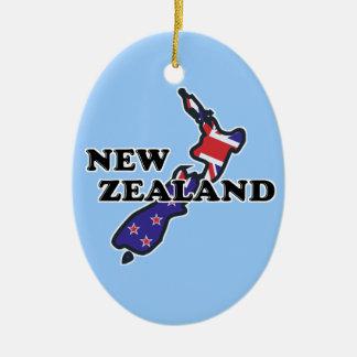 Ornamento do quivi da bandeira de Nova Zelândia