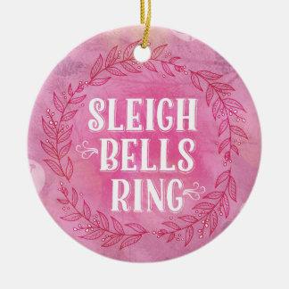 Ornamento do rosa do anel de Bels de trenó