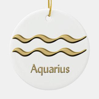 Ornamento do símbolo do ouro do Aquário