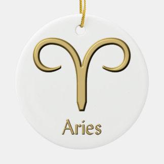 Ornamento do símbolo do ouro do Aries
