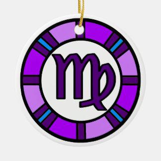 Ornamento do símbolo do zodíaco do Virgo