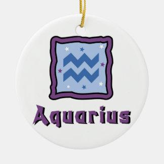 Ornamento do sinal do zodíaco do Aquário