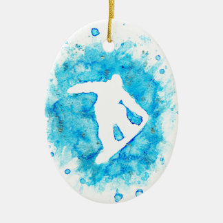 Ornamento do Snowboarder