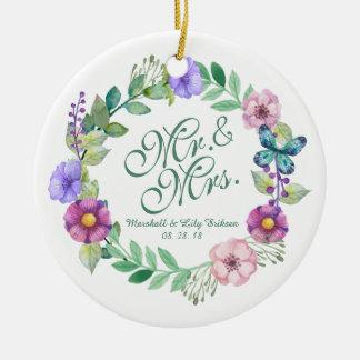 Ornamento do Sr. & da Sra. Elegante Floral