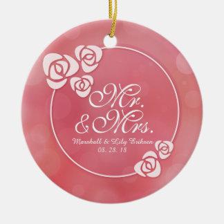 Ornamento do Sr. & da Sra. Elegante Floral Quadro