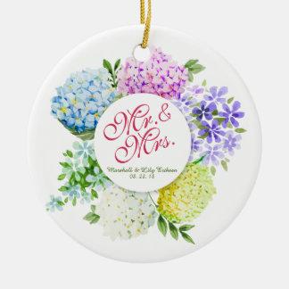 Ornamento do Sr. & da Sra. Floral Salto Casamento