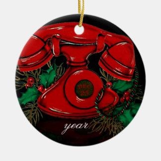 Ornamento do telefone do natal vintage