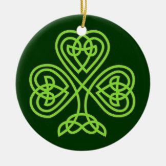 Ornamento do trevo do trevo do dia de St Patrick