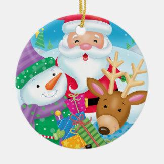 Ornamento do trio do amigo do Natal