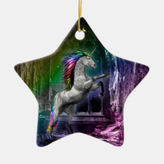 Ornamento do unicórnio do arco-íris