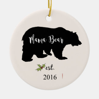 mama bear ornament, mom christmas ornament,