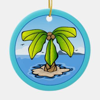 Ornamento do verão da ilha de palma