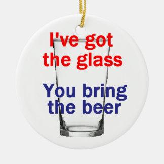 Ornamento do vidro de cerveja