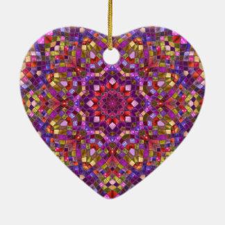 Ornamento do vintage do teste padrão de mosaico
