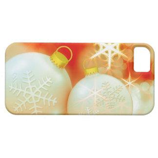 Ornamento do White Christmas Capa Barely There Para iPhone 5