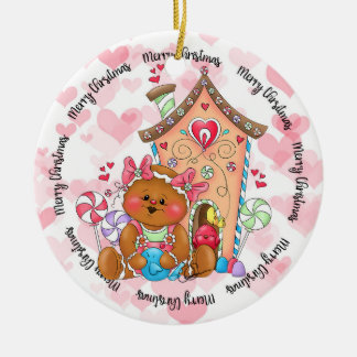 Ornamento doce da casa do pássaro do