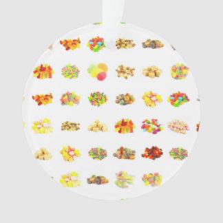 Ornamento Doces e fundo sem emenda do teste padrão dos doces