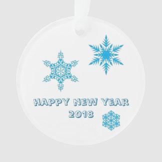 Ornamento dos flocos de neve - desejos do feliz