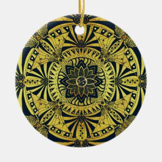 Ornamento dourado da mandala da simetria