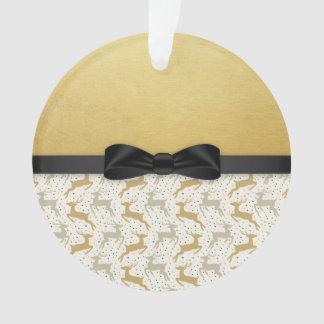 Ornamento dourado dos cervos do feriado do Natal
