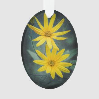 Ornamento Duas flores amarelas do tupinambo