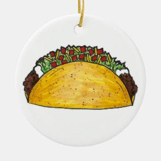 Ornamento duro de Foodie do Tacos do Taco de Shell