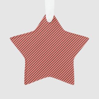 Ornamento Eco do pêssego e listra preta