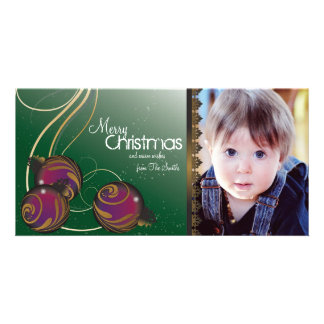 Ornamento elegantes & redemoinhos dos cartões de cartões com fotos