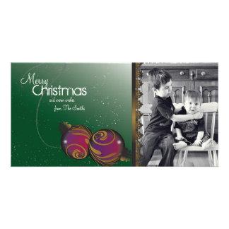 Ornamento elegantes & redemoinhos dos cartões de cartão com fotos personalizado