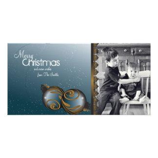 Ornamento elegantes & redemoinhos dos cartões de f cartões com fotos personalizados