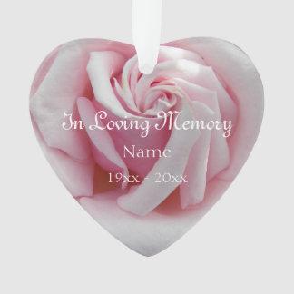 Ornamento Em acrílico Loving do rosa do rosa da memória