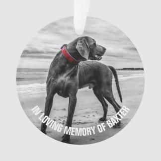 Ornamento Em memorial Loving da foto da lembrança da memória
