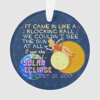 Ornamento Engraçado americano eclipse solar do 21 de agosto