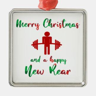 Ornamento engraçado da malhação do Feliz Natal de