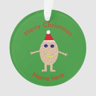 Ornamento engraçado do acrílico do ovo do Natal