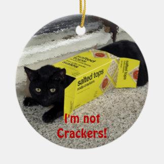 Ornamento engraçado do feriado do gato preto