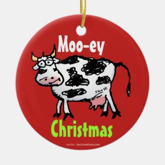 Ornamento engraçado dos desenhos animados da vaca