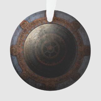 Ornamento Engrenagens do metal da horas da lua de Steampunk