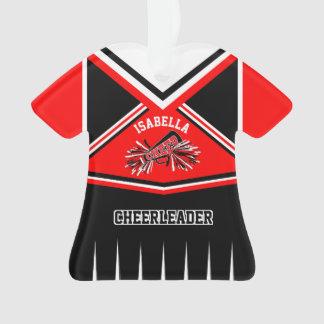 Ornamento Equipamento vermelho, preto e branco do