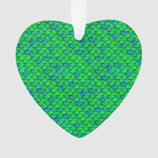 Ornamento Escalas verdes do azul de Falln