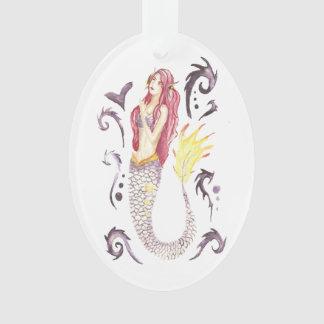 Ornamento Escarlate da sereia do dragão